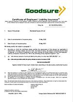 Worldwide employers liability cert 2020
